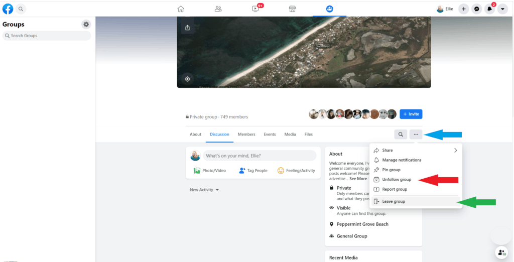 Curate a positive Facebook feed:  Leave groups with no behavioral guidelines