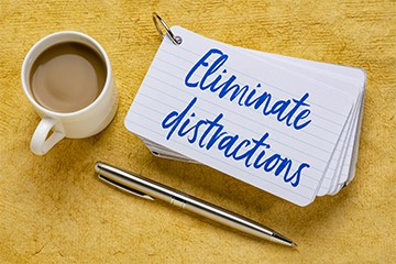 Productivity Tips - Eliminate Distractions